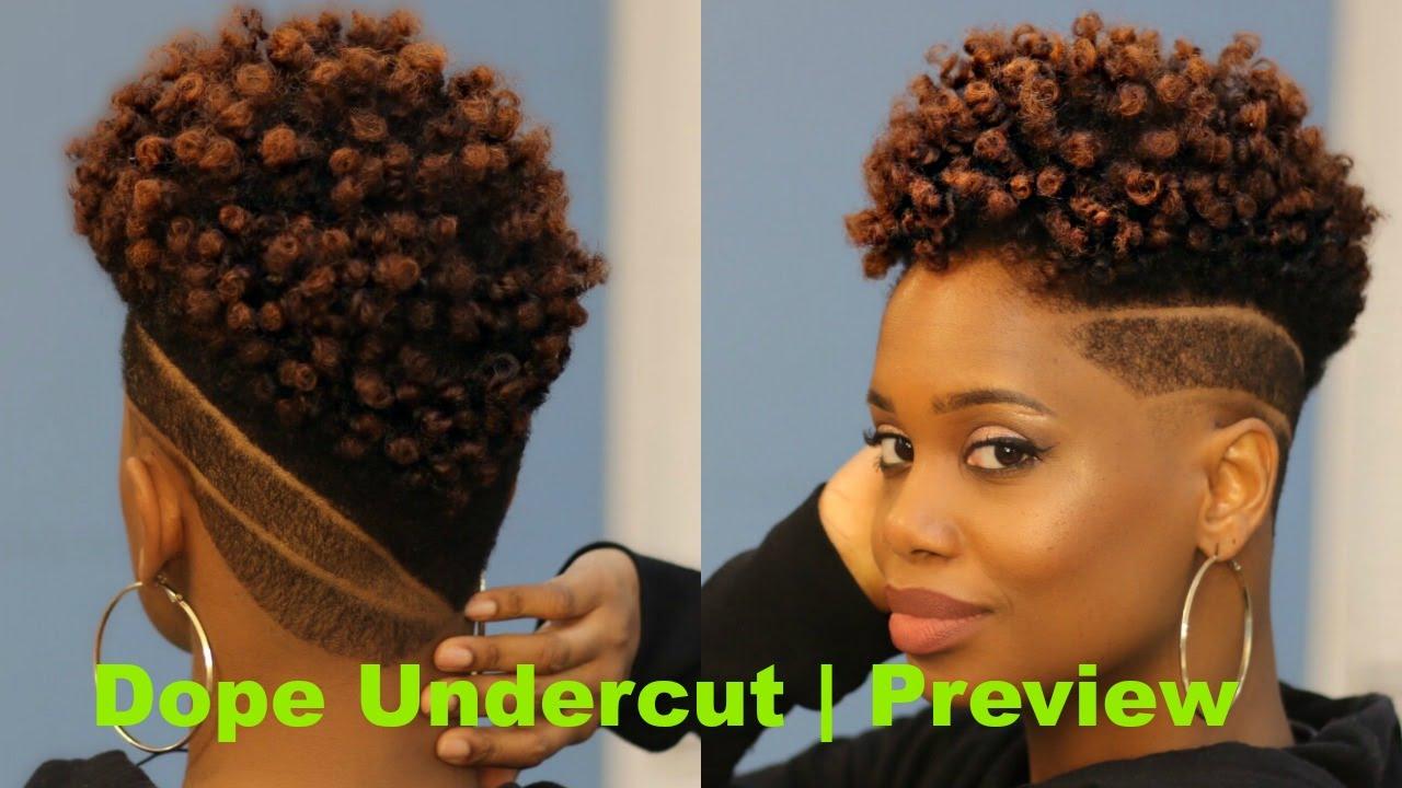 Womens Undercut with Custom Designs | Preview | Barbershop