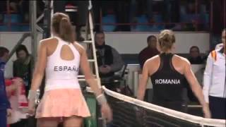 FedCup 2015 - Romania vs Spania - Highlights