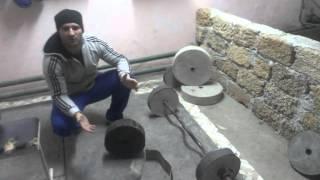 видео: Спортзал, блины на штангу гриф, своими руками