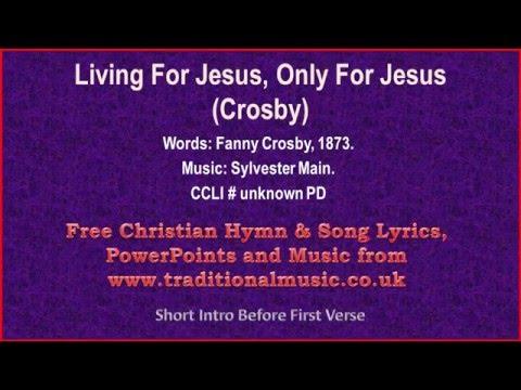 living for jesus lyrics