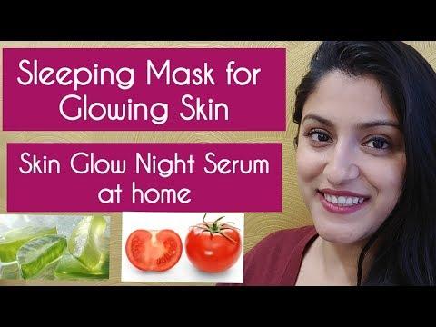 Skin Glow Sleeping Mask at home | Skin Tightening DIY Vitamin C Skin Glow Serum at home dark circles