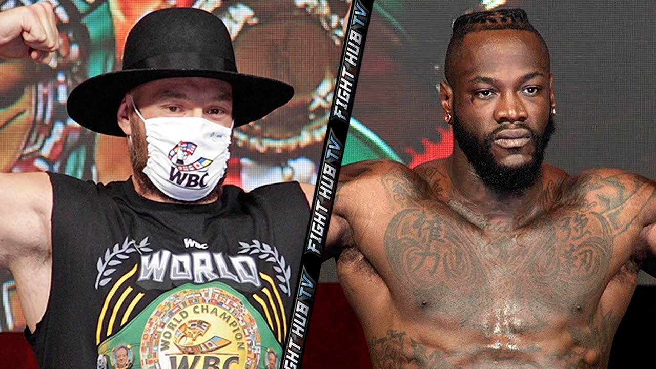 Download DEONTAY WILDER LOOKS MASSIVE FOR TYSON FURY WEIGH IN - FULL FURY WILDER 3 WEIGH IN