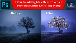 How to add lights effect to a tree with photoshop manipulation | Graphics Editorials