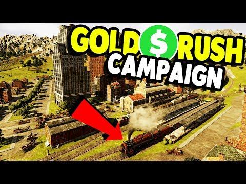 GOLD RUSH - Let's Make MILLIONS $$$   Railway Empire Gameplay
