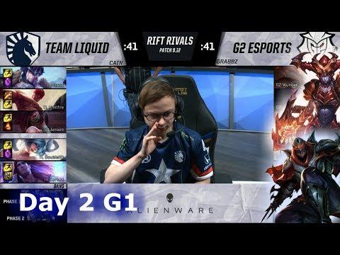 Team Liquid vs G2 eSports   Day 2 NA vs EU Rift Rivals 2019 LoL   TL vs G2