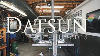 Datsun Series Episode 3 - Car Rotisserie Fabrication for Datsun 510