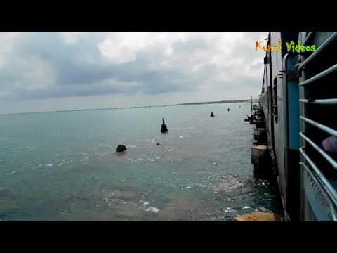 16101 Boat Mail Express ( MS-RMM ) Cross Pamban Bridge at Rameshwaram