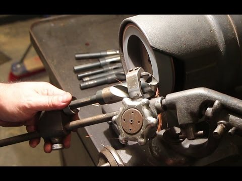 Sharpening Drill Bits On A Sellers Type 1-G Drill Grinder