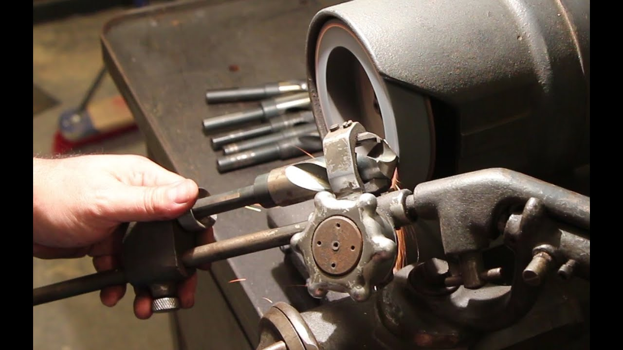 Sharpening Drill Bits On A Sellers Type 1 G Drill Grinder