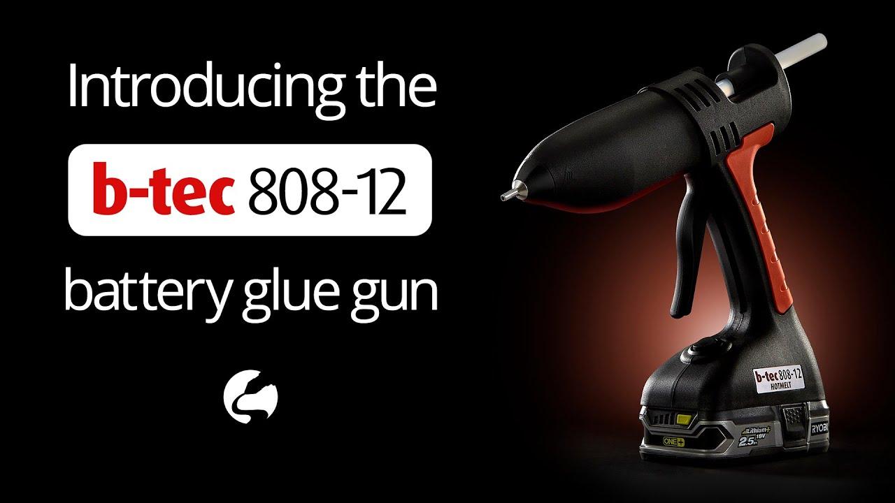 B-tec 808-12 Cordless Battery Medium-Weight Industrial 12mm Hot Melt Glue Gun