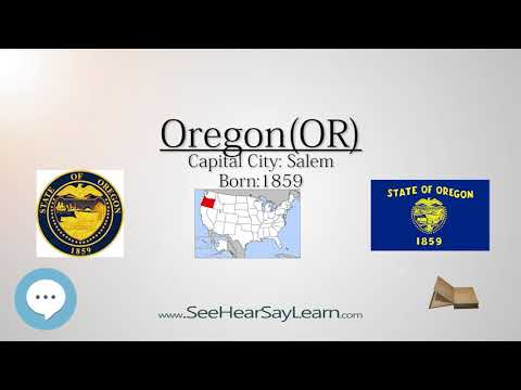 OREGON - The 33rd State of America | EYNTK  about The States & Territories ❤️🌎🔊✅