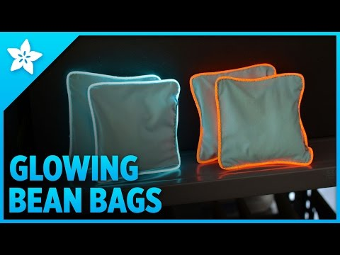 Glowing Bean Bags with EL Wire - YouTube