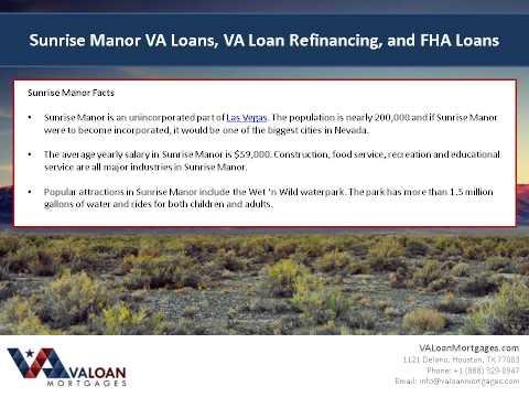Sunrise Manor VA Loans & Sunrise Manor VA Refinance