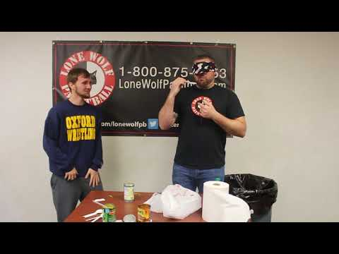 Canned Food Challenge with Tony From Lone Wolf Paintball. PUKE WARNING