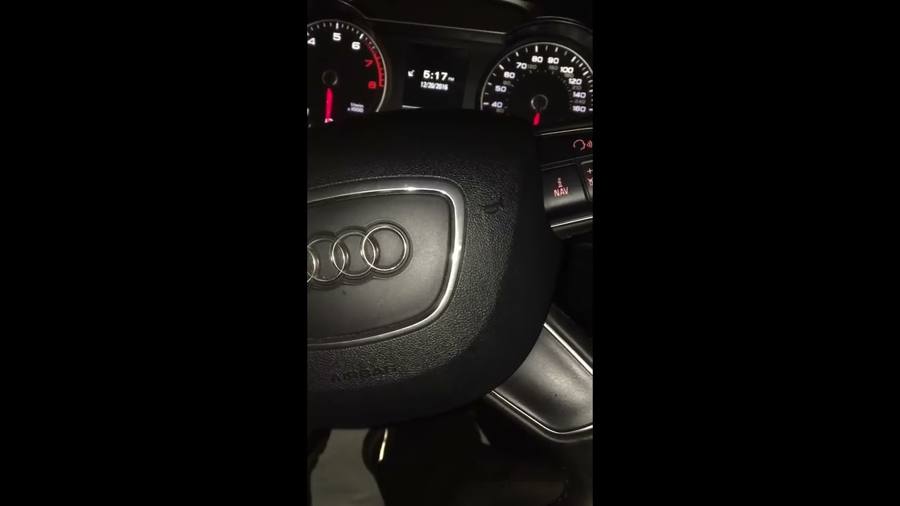 Audi A B How To Check Oil Level And Reset Maintenance Interval - Audi a4 maintenance schedule