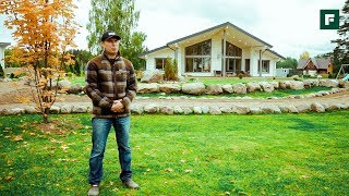 Пятиугольный дом у озера, в слиянии с природой