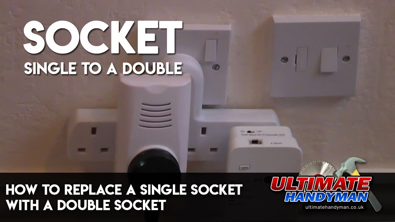 How To Replace A Single Socket With Double Youtube Wire 240v Outlet Further Diagram Wiring