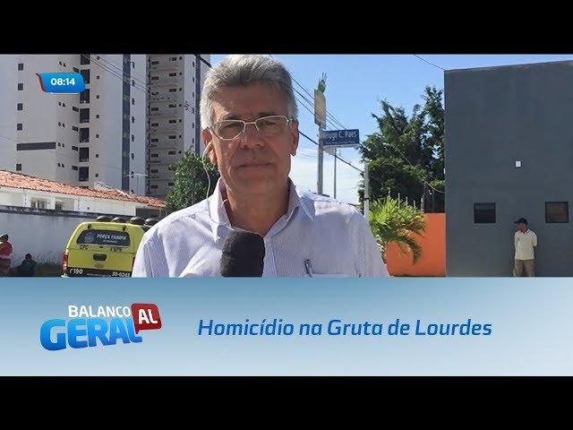 Um homicídio foi registrado na manhã desta terça-feira, na Gruta de Lourdes