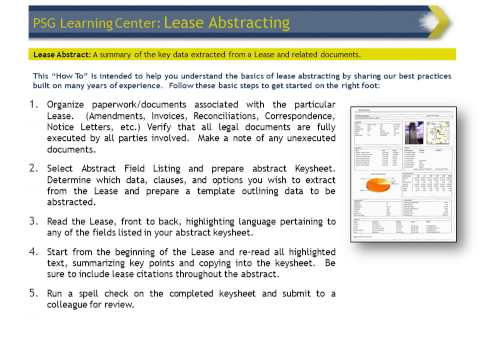 Education Center: Abstracting