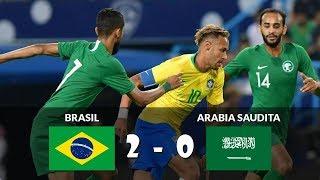Brasil vs Arabia Saudita 2-0 Partido Amistoso Resumen Highlights