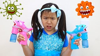 Cleaning Toys Song | Jannie Pretend Play Sing-along Nursery Rhymes Kid Songs