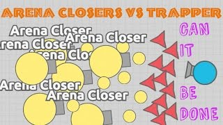 DIEP.IO TRAPPERS  vs ARENA CLOSERS!! // Trapper Can Stop Their Bullets!!