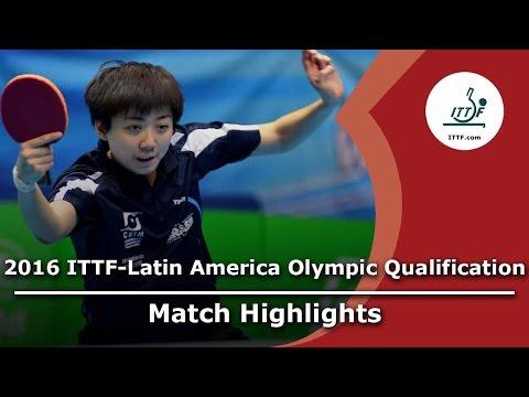 2016 Latin America Olympic Qualification Highlights: Gremlis Arvelo vs Lin Gui