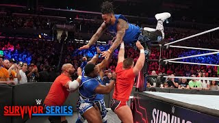 Video The Usos fly high to opening victory for Team SmackDown: Survivor Series 2018 Kickoff download MP3, 3GP, MP4, WEBM, AVI, FLV November 2018