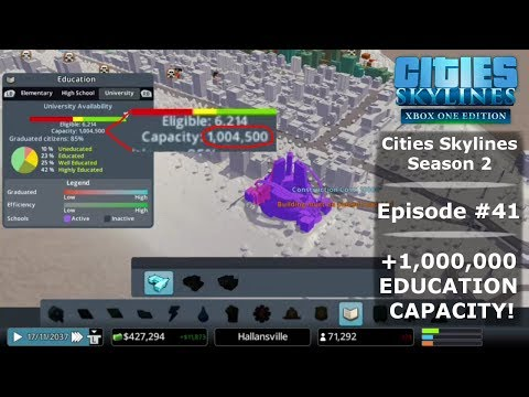+1,000,000 EDUCATION CAPACITY! | Season 2 | Cities Skylines: Xbox One Edition #41