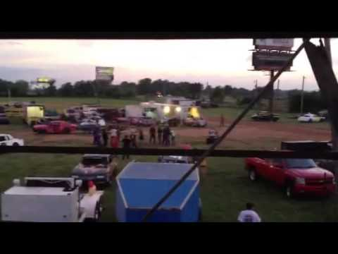 Part of a fight at 67 Speedway