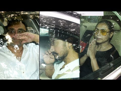 Bollywood celebs At Rani Mukherjee's Father's Last Rites - Aamir Khan,Aditya Chopra,Ranveer Singh