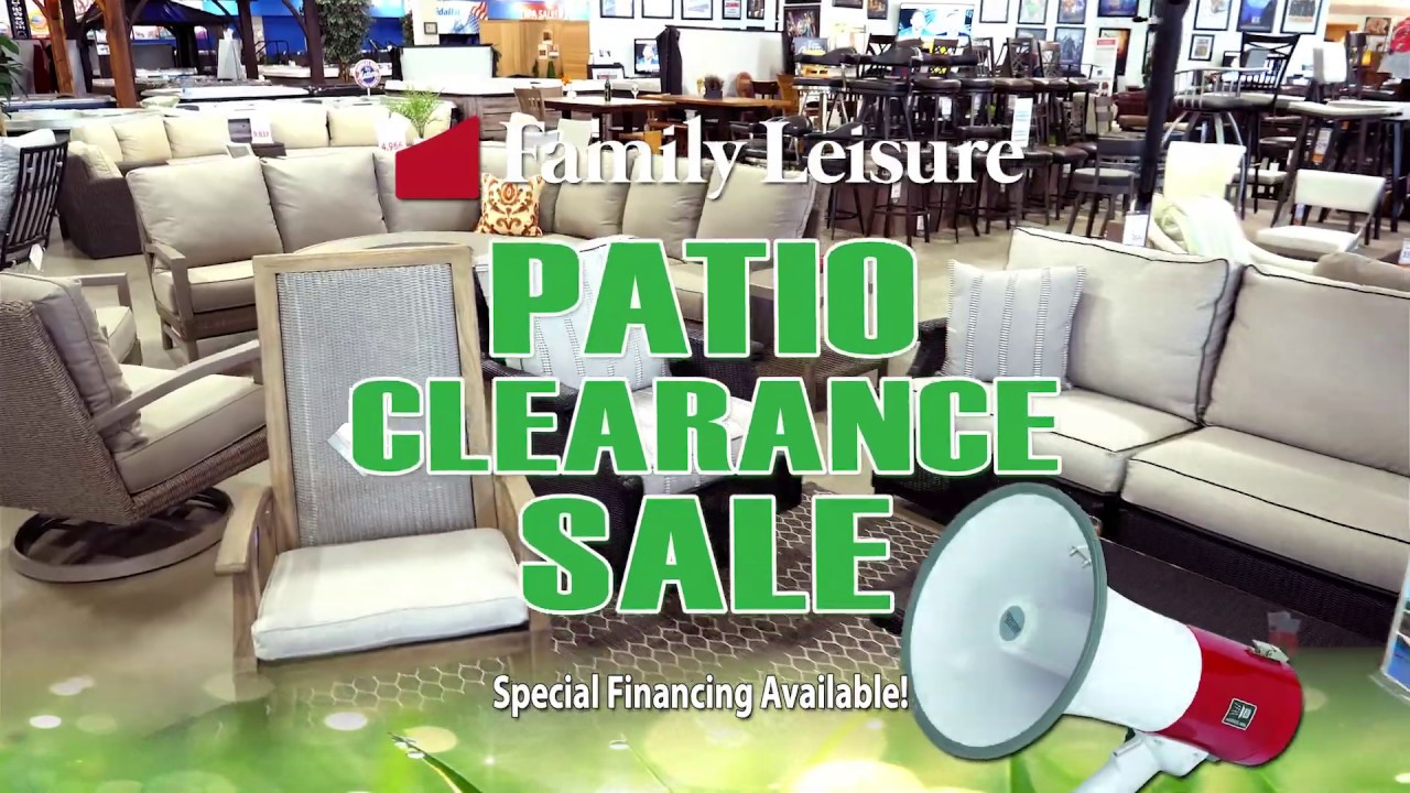 Family Leisure S Patio Furniture Clearance Sale July 2019 Youtube