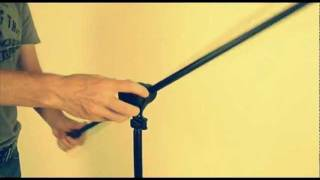 HERCULES microphone stand with 2-in-1 boom clamp