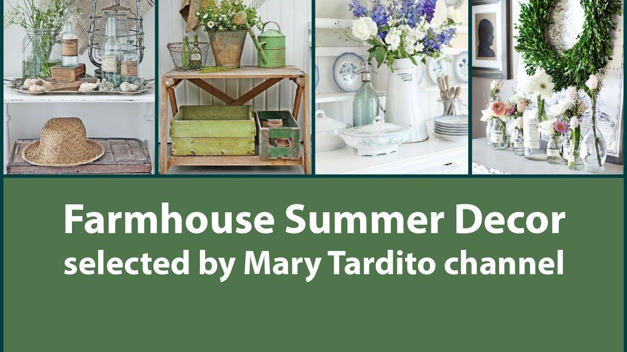 Farmhouse Summer Decor – Rustic Summer Decorating Ideas - YouTube