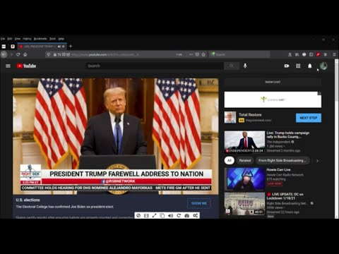 Witness Report: RSBN and President Trump's Farewell Address