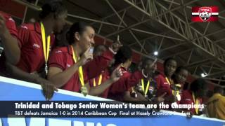 Trinidad and Tobago Senior Women are the 2014 Caribbean Cup Champions