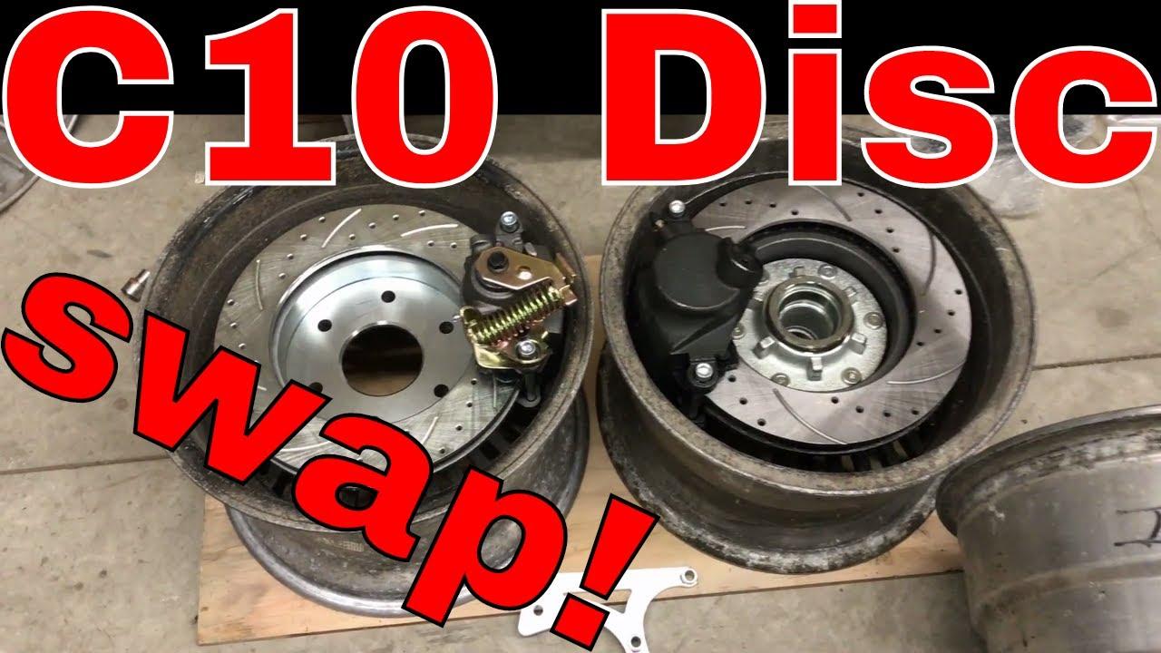 chevy c10 4 wheel disc brake conversion parts youtube