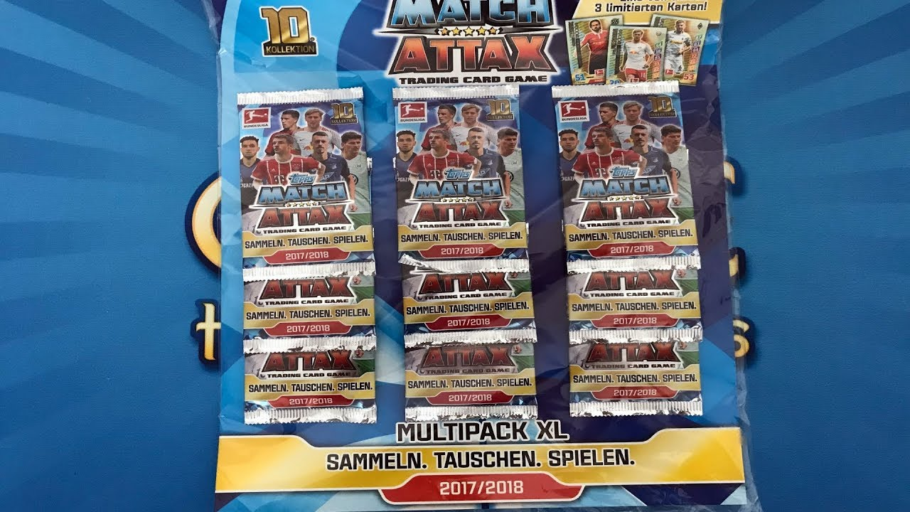 Match Attax 2017 18 Multipack Xl Topps Fussball Karten Opening Unboxing