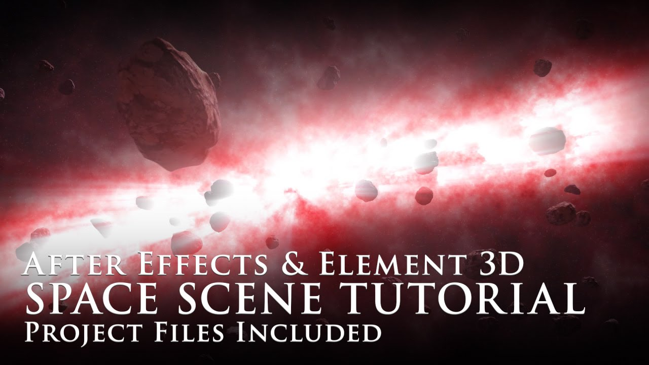 Element 3d tutorial space scene after effects element for Habitacion 3d after effects