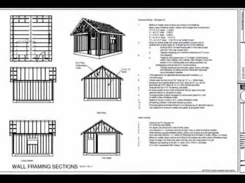 g51 18 x 20 x 10 garage plans youtube