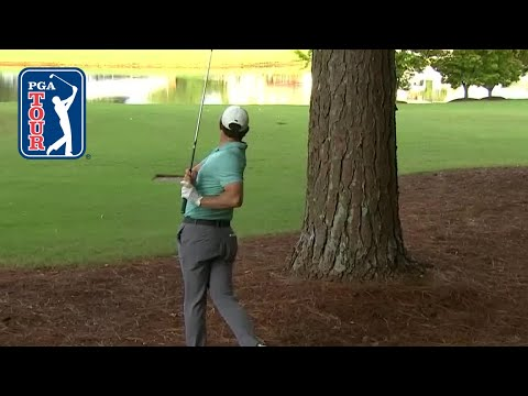 Rory McIlroy's escape from the trees leads to birdie at TOUR Championship 2019