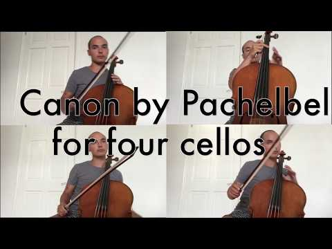 Canon in D [Pachelbel] for 4 Cellos