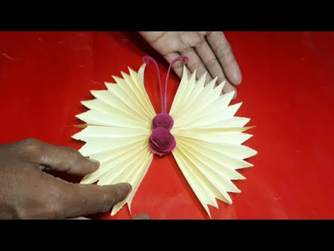 DIY Paper Butterfly Wall Hanging  Wall Decoration idea Simple butterfly wall decoration /shakeel ahm