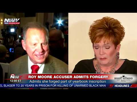 BREAKING: Roy Moore Accuser Admits To Adding Yearbook Info (FNN)
