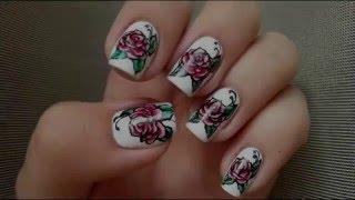Как рисовать оригинальный  РОЗЫ на ногтях.(Привет всем! Сегодня хочу показать как сделать такой яркий маникюр. Используя этот урок, вы сможете легко..., 2016-02-03T18:00:01.000Z)
