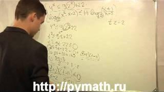ЕГЭ математика 2012. С3 логарифм и система. Урок онлайн.