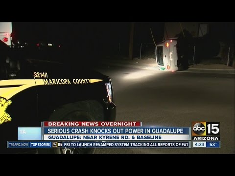 Crash knocks out power in Guadalupe