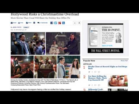 Introduction to the Wall Street Journal for students with Group Access