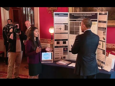 President Obama Tours the 2015 White House Science Fair Exhi