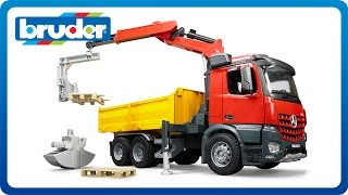 Bruder Toys Mb Arocs Construction Truck With Crane #03651